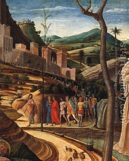 Agony in the Garden [detail] by Andrea Mantegna - Reproduction Oil Painting