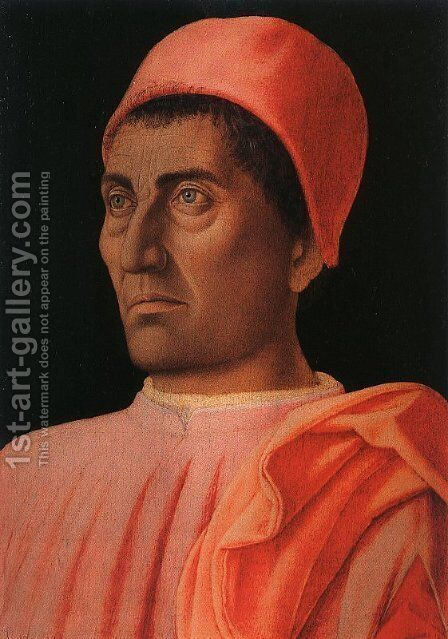 Portrait of the Protonary Carlo de' Medici (or Portrait of a Cardinal) by Andrea Mantegna - Reproduction Oil Painting