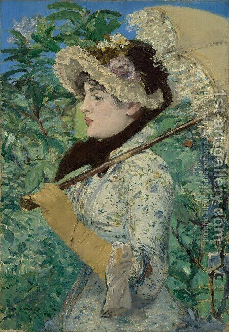 Spring (or Study of Jeanne Demarsy) by Edouard Manet - Reproduction Oil Painting
