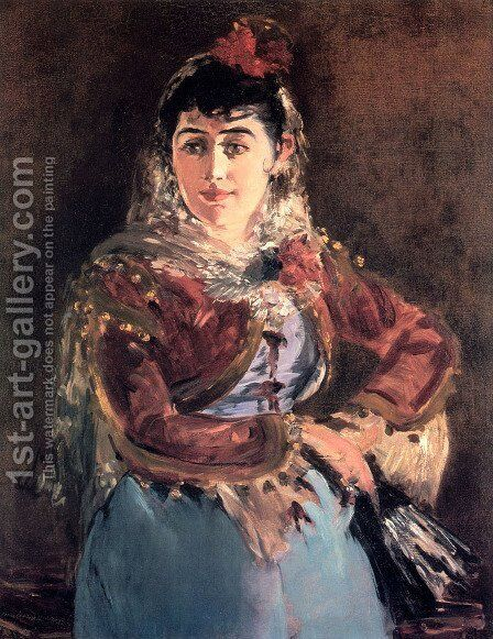Portrait of Émilie Ambre in the role of Carmen by Edouard Manet - Reproduction Oil Painting