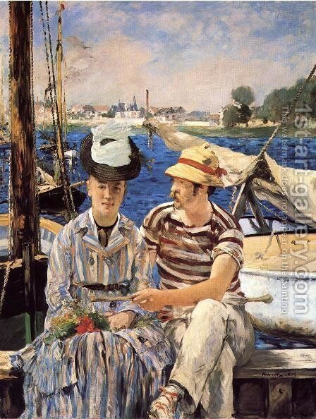 Argenteuil by Edouard Manet - Reproduction Oil Painting