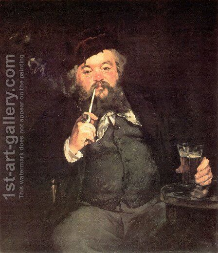 Le Bon Bock (A Good Glass of Beer) (or Study of Émile Bellot) by Edouard Manet - Reproduction Oil Painting