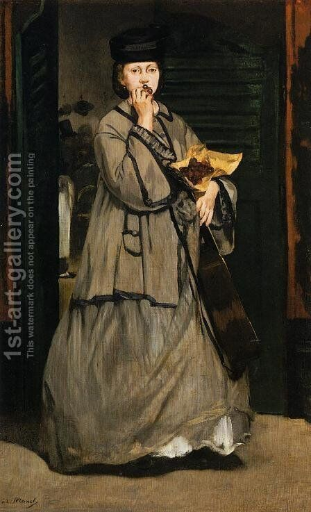 The Street Singer by Edouard Manet - Reproduction Oil Painting