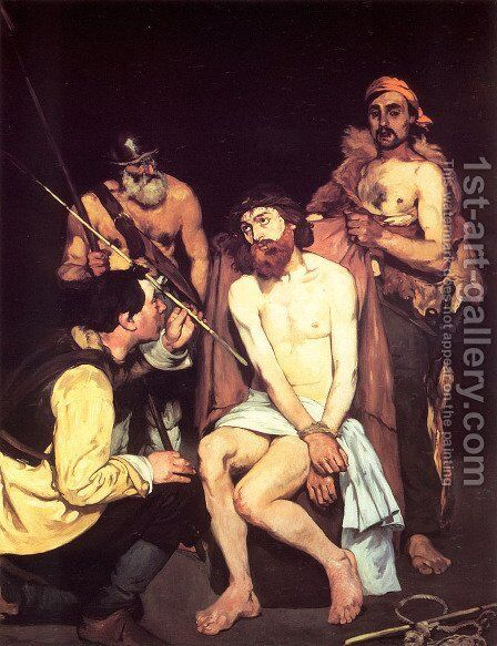 Jesus Mocked by the Soldiers by Edouard Manet - Reproduction Oil Painting