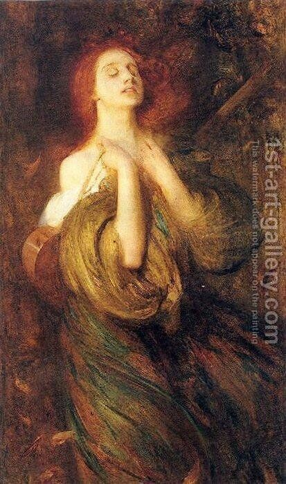 Autumn by Arthur Hacker - Reproduction Oil Painting