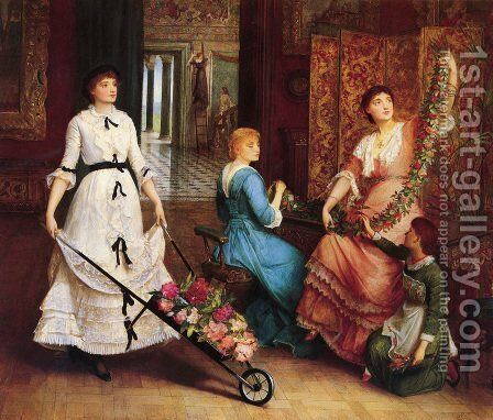 Preparing For The Ball by Edward Charles Halle - Reproduction Oil Painting