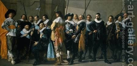Company of Captain Reinier Reael, known as the 'Meagre Company' by Frans Hals - Reproduction Oil Painting
