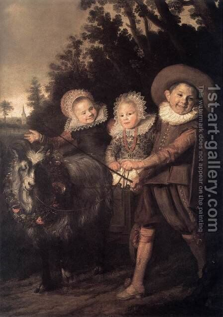 Group of Children by Frans Hals - Reproduction Oil Painting