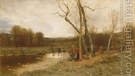 Saturday Afternoon by Jervis McEntee - Reproduction Oil Painting