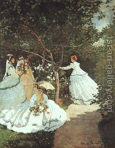 The women in the Garden by Claude Oscar Monet - Reproduction Oil Painting