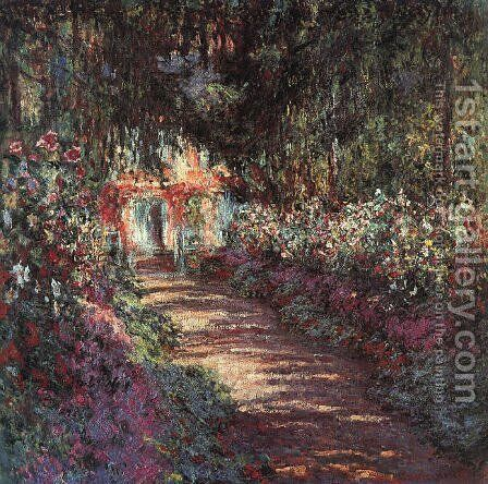 The garden in flower by Claude Oscar Monet - Reproduction Oil Painting