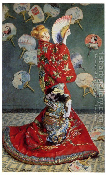 La Japonaise (or Camille Monet in Japanese Costume) by Claude Oscar Monet - Reproduction Oil Painting