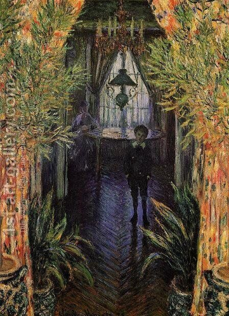 A Corner of the Apartment by Claude Oscar Monet - Reproduction Oil Painting