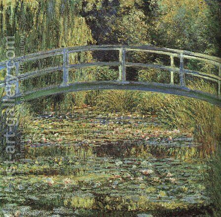 The Waterlily Pond by Claude Oscar Monet - Reproduction Oil Painting