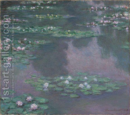 Water Lillies I by Claude Oscar Monet - Reproduction Oil Painting