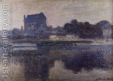The Church Of Vernon In The Mist by Claude Oscar Monet - Reproduction Oil Painting