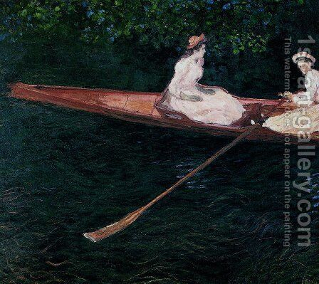 Boating On The River Epte by Claude Oscar Monet - Reproduction Oil Painting