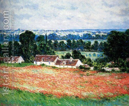 Field Of Poppies, Giverny by Claude Oscar Monet - Reproduction Oil Painting