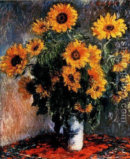Sunflowers by Claude Oscar Monet - Reproduction Oil Painting