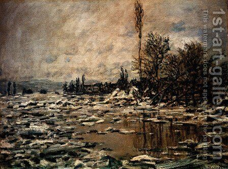 Break-up Of Ice, Lavacourt by Claude Oscar Monet - Reproduction Oil Painting