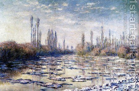 Floating Ice Near Vetheuil by Claude Oscar Monet - Reproduction Oil Painting