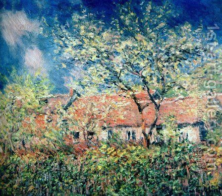Springtime At Giverny by Claude Oscar Monet - Reproduction Oil Painting