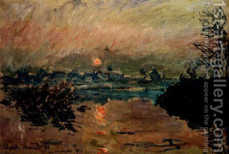 Sunset by Claude Oscar Monet - Reproduction Oil Painting