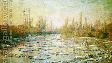 The Ice-Floes 2 by Claude Oscar Monet - Reproduction Oil Painting