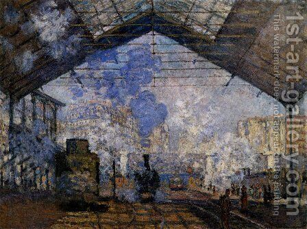 The Gare Saint-Lazare by Claude Oscar Monet - Reproduction Oil Painting