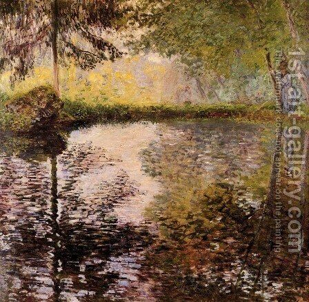 Pond at Montgeron by Claude Oscar Monet - Reproduction Oil Painting