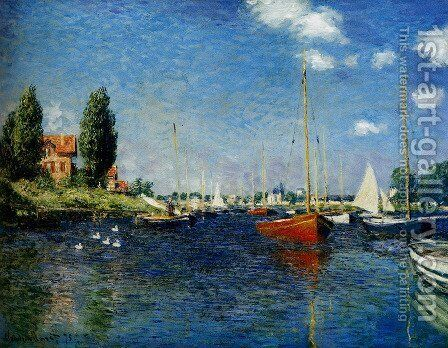 Argenteuil (Red Boats) by Claude Oscar Monet - Reproduction Oil Painting