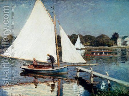 Sailing At Argenteuil by Claude Oscar Monet - Reproduction Oil Painting