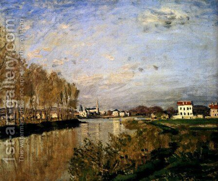 The Seine At Argenteuil, 1873 by Claude Oscar Monet - Reproduction Oil Painting