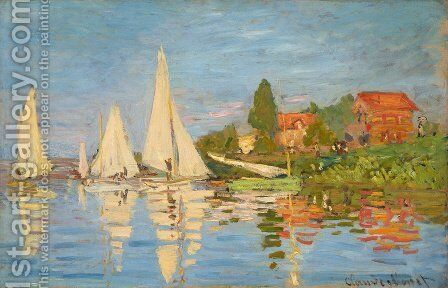 Regatta At Argenteuil by Claude Oscar Monet - Reproduction Oil Painting