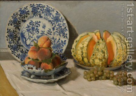 Still Life With Melon by Claude Oscar Monet - Reproduction Oil Painting