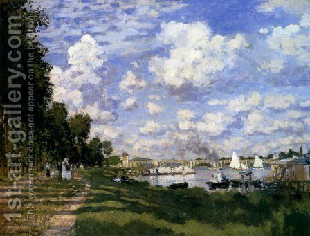 The Marina At Argenteuil by Claude Oscar Monet - Reproduction Oil Painting