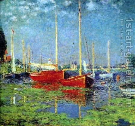 The Red Boats, Argenteuil by Claude Oscar Monet - Reproduction Oil Painting