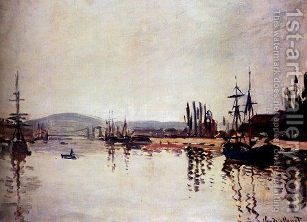 The Seine Below Rouen by Claude Oscar Monet - Reproduction Oil Painting