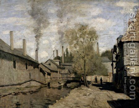 The Stream Of Robec, Rouen by Claude Oscar Monet - Reproduction Oil Painting