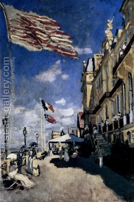 The Hotel Des Roches Noires At Trouville by Claude Oscar Monet - Reproduction Oil Painting