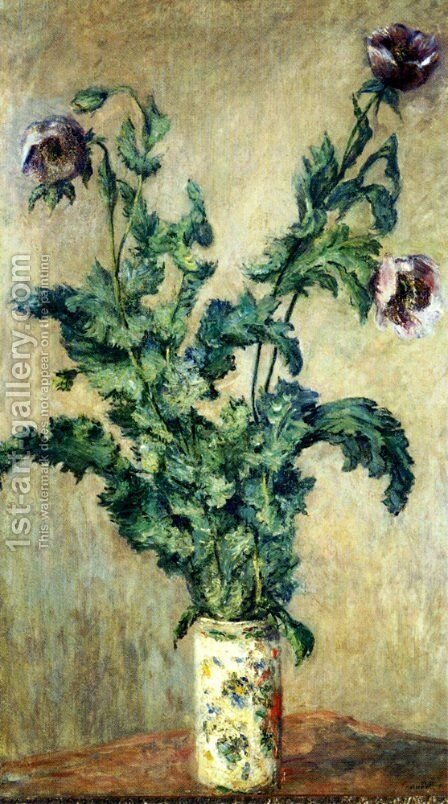 Purple Poppies by Claude Oscar Monet - Reproduction Oil Painting
