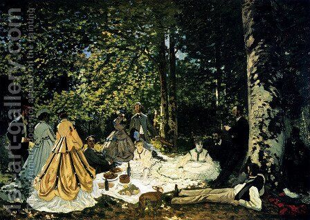 Dejeuner Sur L'Herbe A Chailly by Claude Oscar Monet - Reproduction Oil Painting