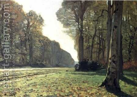 The Road To Chailly by Claude Oscar Monet - Reproduction Oil Painting