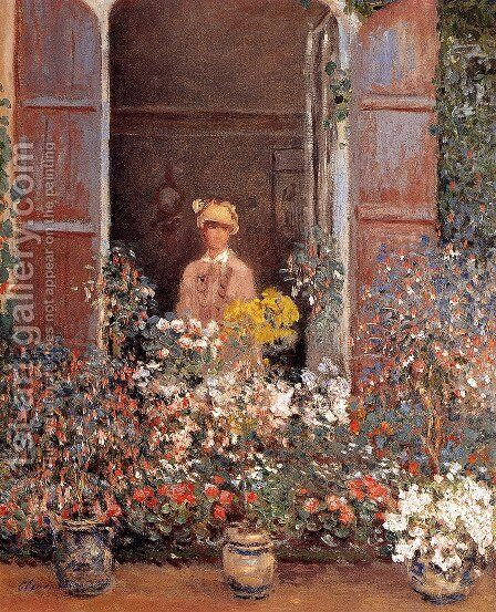 Camille At The Window by Claude Oscar Monet - Reproduction Oil Painting