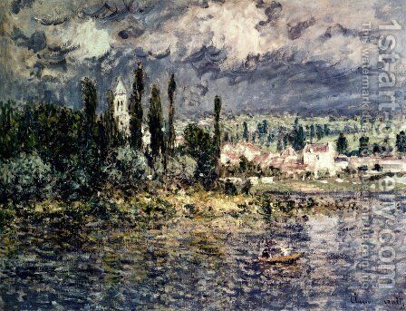 Landscape With Thunderstorm by Claude Oscar Monet - Reproduction Oil Painting