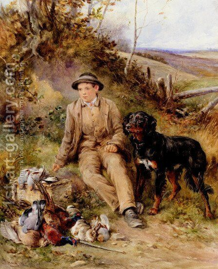 The Keeper's Boy by James Hardy Jnr - Reproduction Oil Painting