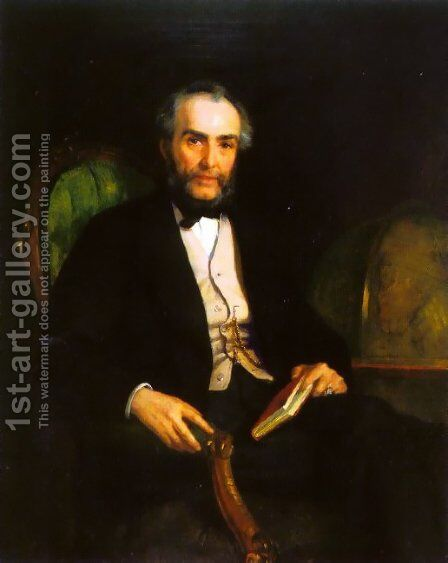 Portrait of Peter Douglas Esquire by Edwin Longsden Long - Reproduction Oil Painting