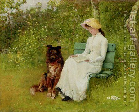 A Quiet Read by Edwin Harris - Reproduction Oil Painting