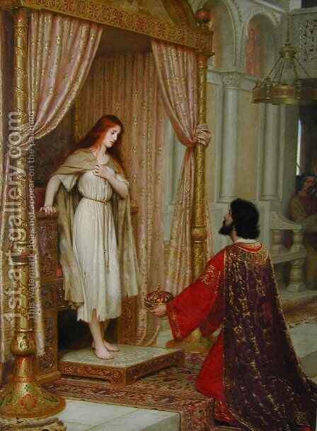 The King and the Beggar-maid by Edmund Blair Blair Leighton - Reproduction Oil Painting