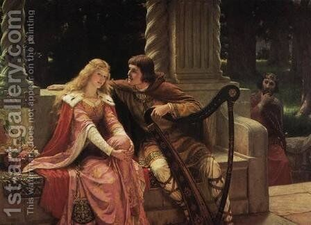 Tristan and Isolde by Edmund Blair Blair Leighton - Reproduction Oil Painting